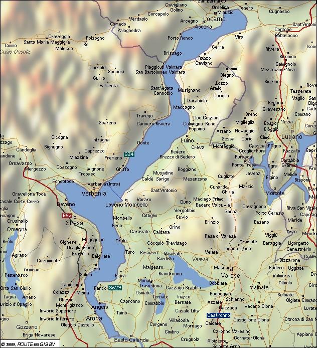 Verbania Lago Maggiore Karte.Meina Lago Maggiore Karte Kleve Landkarte
